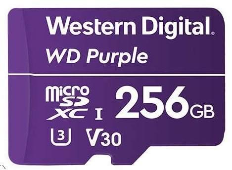 Memoria wd 256gb micro sdxc purple videovigilancia 24/7