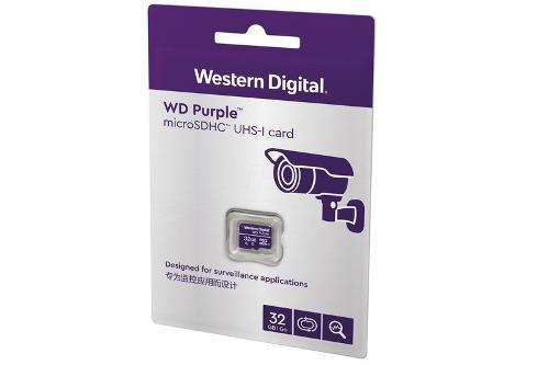Memoria wd 32gb micro sdhc purple 24/7 clase 10 vigilancia