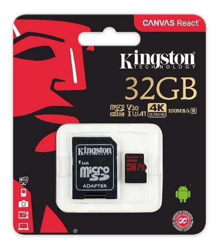 Memorias Kingston Microsd 4k De 32 Gb Originales