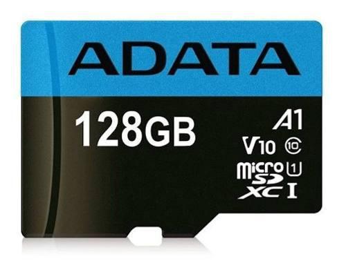 Micro sd adata, microsdxc 128gb, uhs-i clase 10 a1 +adapta