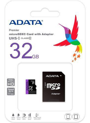 Micro Sd Clase 10 32gb Adata Celular Tableta Cámara