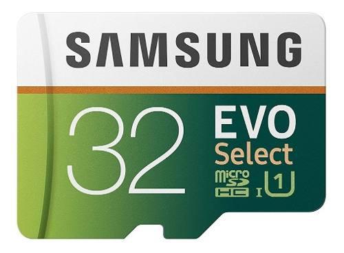 Micro sd samsung 32 gb 95mb/s evo hc u1 + adaptador original