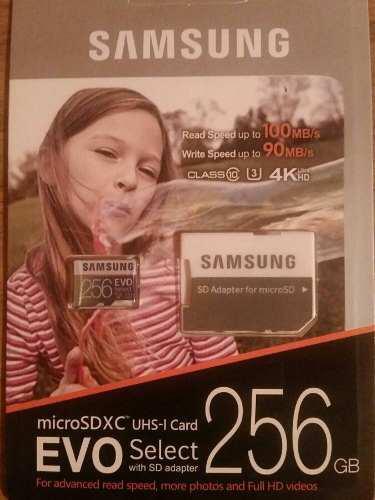 Micro sd samsung evo select 256 gb clase 10 u3
