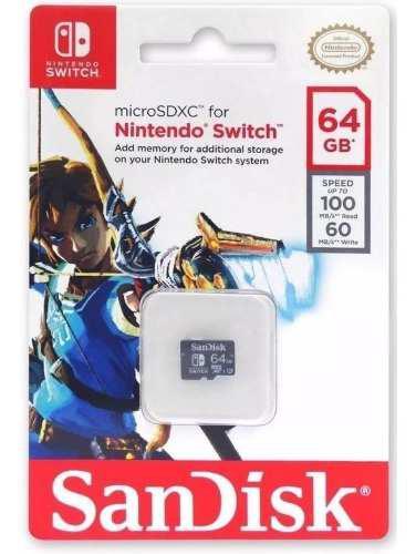 Micro sd sandisk 64gb nintendo switch sdsqxat-064g-gn6za