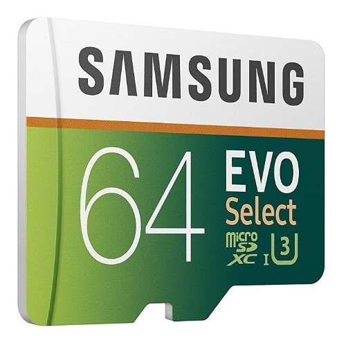 Samsung evo select 64gb microsd memoria micro sd u3