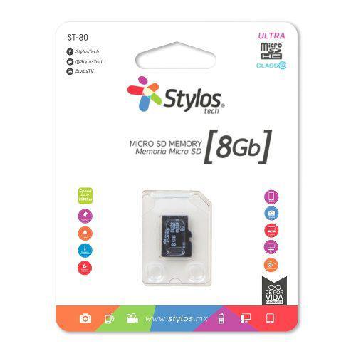 Stylos memoria micro sd 8gb mayoreo original nueva sellada