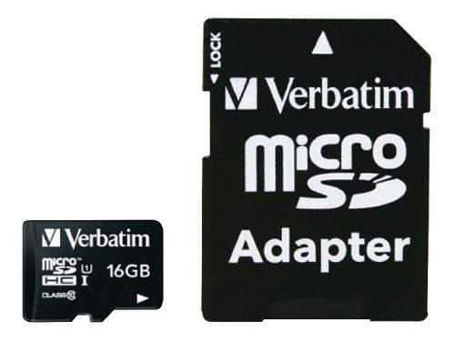 Tarjeta de memoria micro sd 16 gb clase 10 verbatim 44082