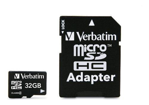 Tarjeta de memoria micro sd 32 gb clase 4 verbatim 97643