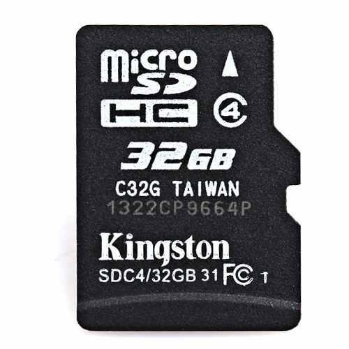 Tarjeta de memoria micro sd tf kingston 32 gb negro 10 uds.
