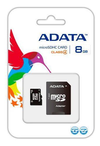 Tarjeta de memoria micro sdhc de 8gb adata clase 4 con