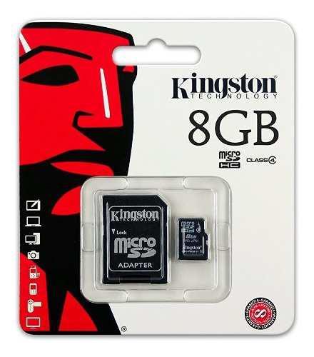 Tarjeta de memoria micro sdhc de 8gb kingston sdc4/8gb clase