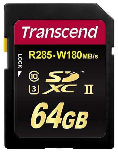 Transcend tarjeta sd sdxc uhs-ii 64gb class 10 (ts64gsd2u3)