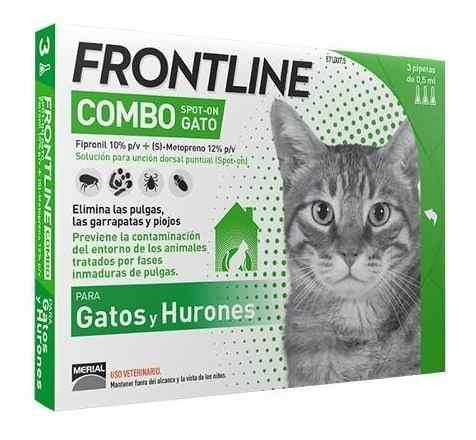 3 pipeta frontline para gato plus