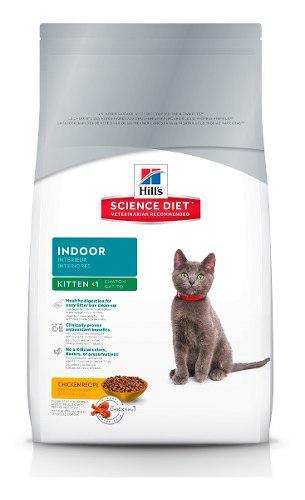Alimento gato indoor 1 año edad pollo 3 kg hill's