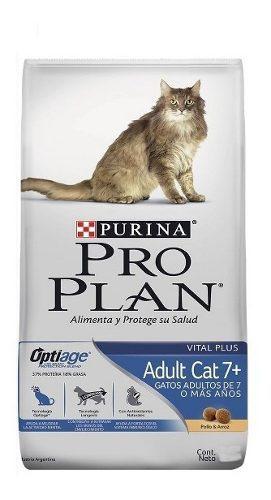 Alimento purina proplan adult 7+ optiage para gatos 3kg