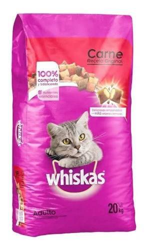Bulto alimento para gato whiskas receta original en croqueta