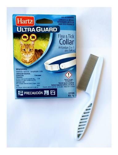 Collar antipulgas gato + peine quita pulgas envió gratis