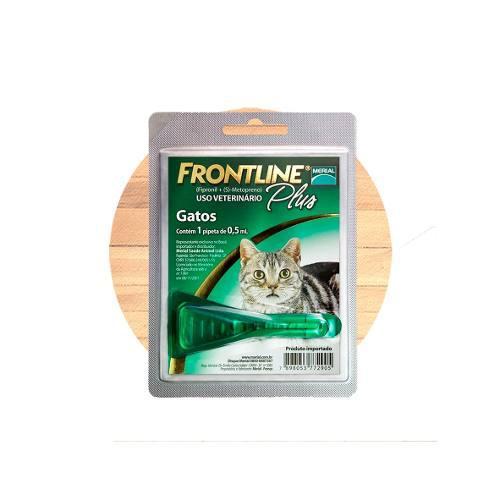 Frontline plus pipeta para gato elimina pulgas garrapatas