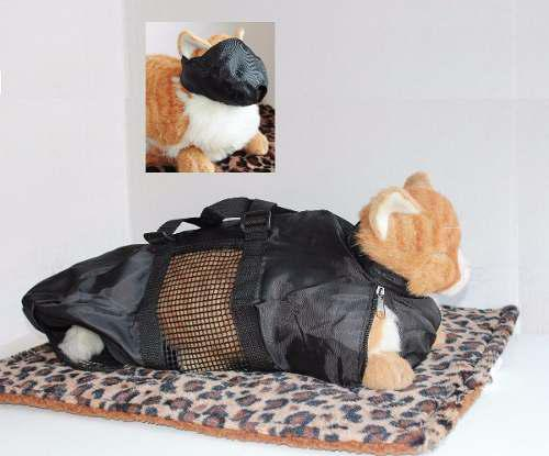 Kit de control y cuidado para gato bolsa + bozal