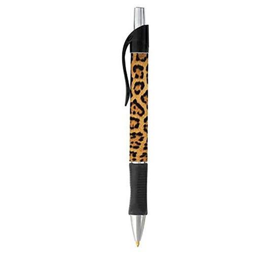 Leopardo del estampado de animales pen - negro o azul de esc