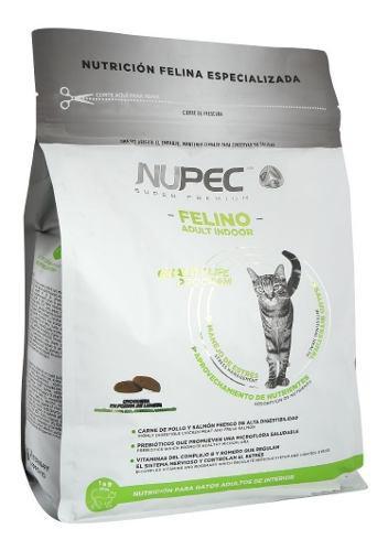 Nupec felino indoor 3kg alimento gato adulto super premium