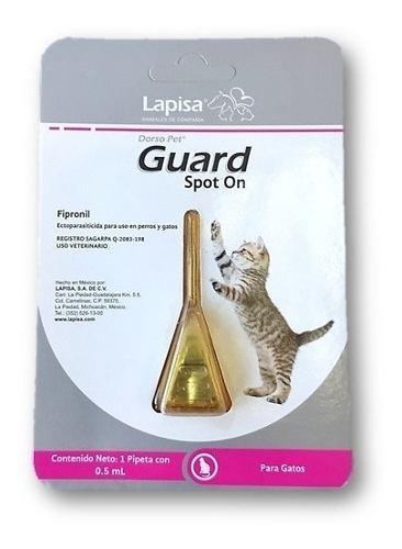 Pipetas para pulgas, garrapatas,dorso pet guard gato