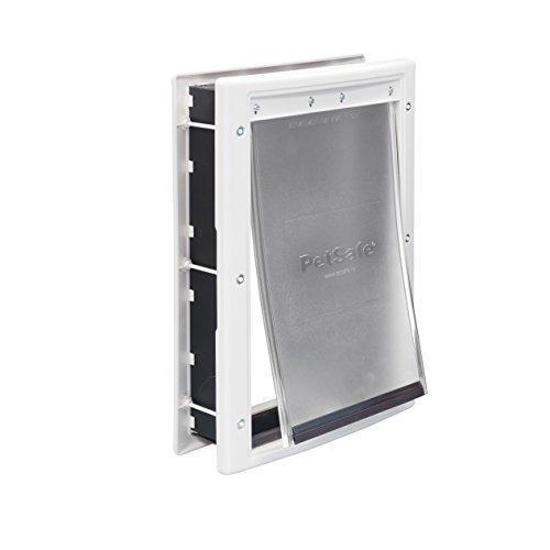 Puerta para mascota en aluminio blanco mediana petsafe