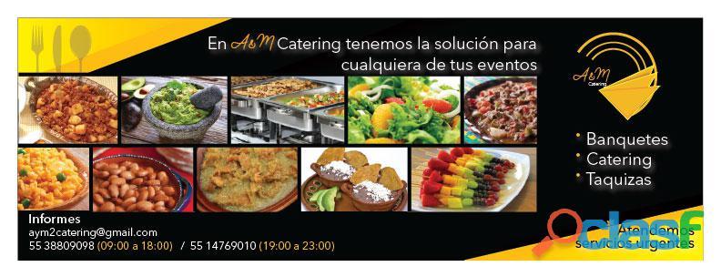Taquizas a domicilio, servicios de catering y banquetes