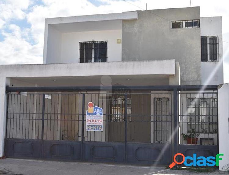 Casa sola en renta en ciudad caucel, mérida, yucatán