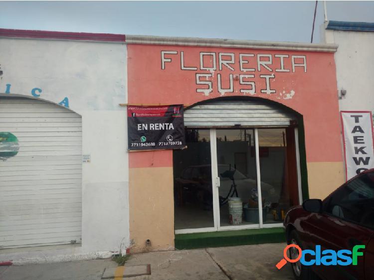 Local comercial con medio baño, sur pachuca