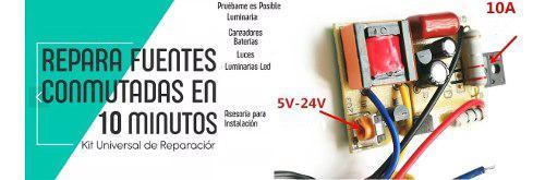Kit de reparacion fuentes conmutadas primario tv lcd led