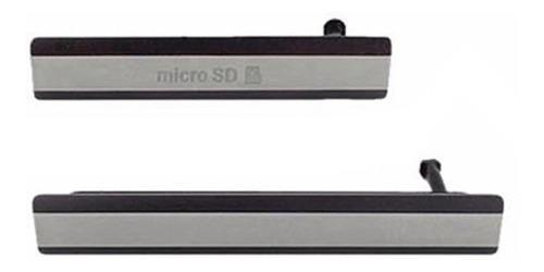 Tapa sony xperia z2 puertos sim carga usb micro sd original