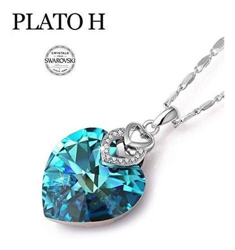 Collar corazon de cristal swarovski collar original con caja