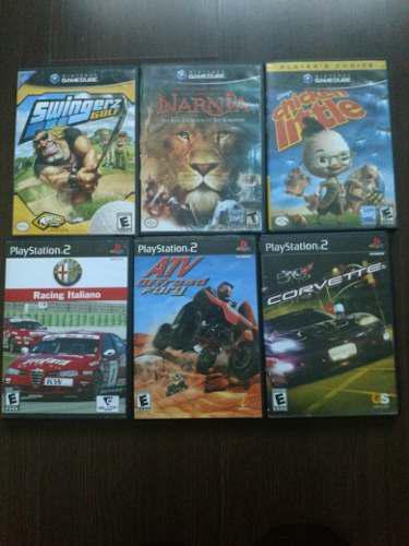 Lote de juegos de gamecube y playstation 2