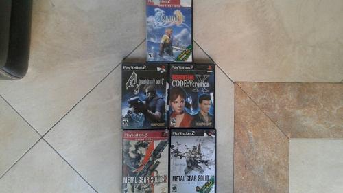 Lote de juegos de ps2,resident evil,metal gear,final fantasy