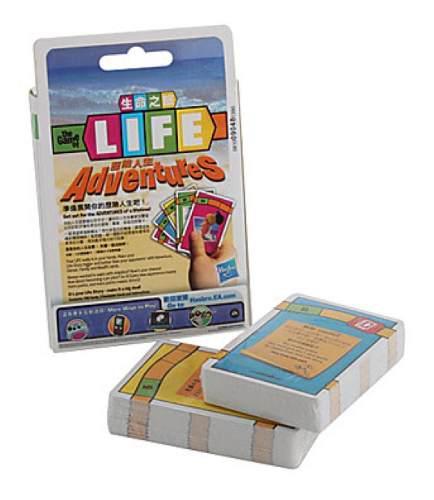 1 juego de cartas hasbro life aventuras