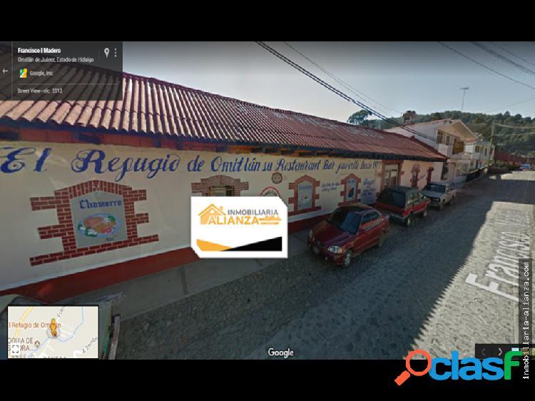 Restaurante/hotel en venta en omitlan hidalgo