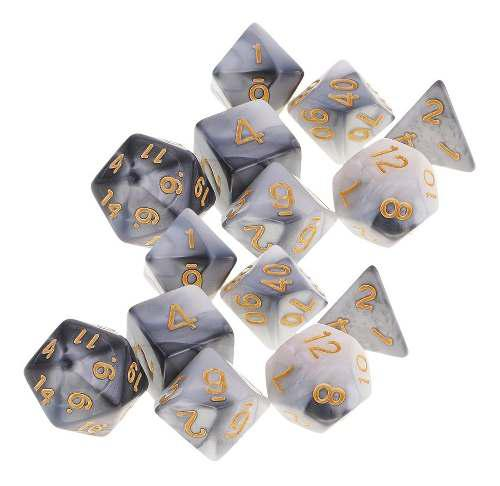 14x dados poliédricos para rpg board game table game