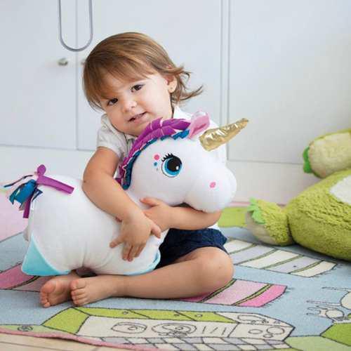 Almohada peluche chiqui mascotas baby 2 en 1 unicornio bebe