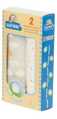 Baby mink sabana 100% algodón para recién nacido 2 piezas