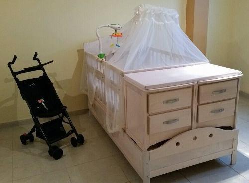 Cuna cama individual nueva con accesorios incluidos