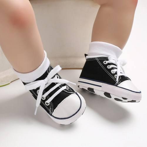 Lona niño recién nacido bebé zapatos non -slip fondo sole
