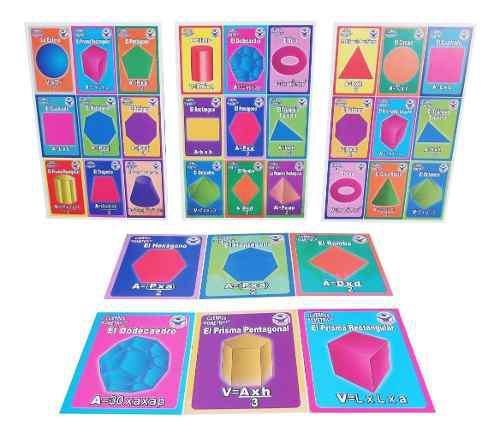 Lotería didáctica educativa figuras y cuerpos geométricos