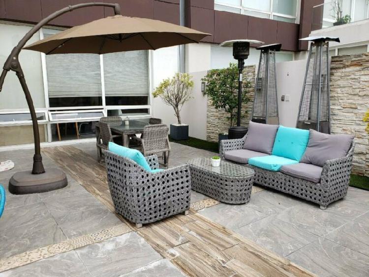 Magnífico gh en venta o renta con 70 mt de terraza -bosque