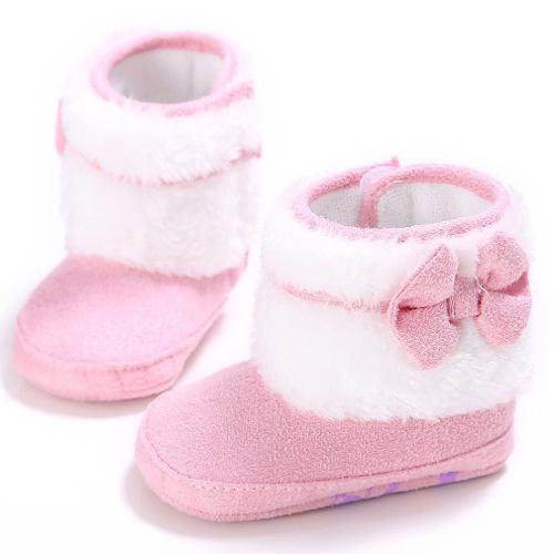 Recién nacido bebé zapatos invierno suave caliente niñas