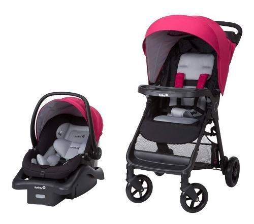 Safety sistema viaje bebé carriola y auto asiento base rosa