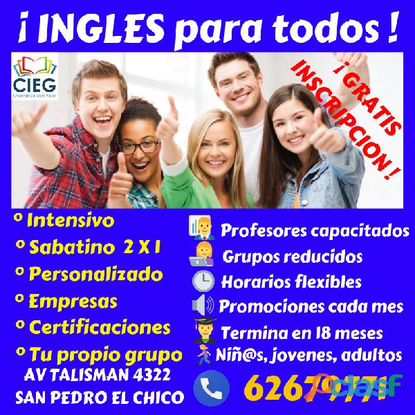 Ingles, gratis inscripción