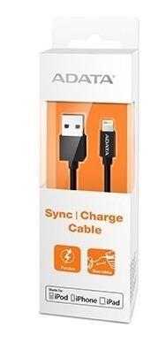Adata cable usb lightning original iphone 100cm negro