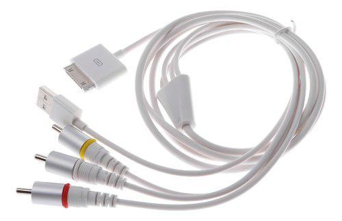 Cable vídeo compuesto de av a tv rca cargador usb para ipad