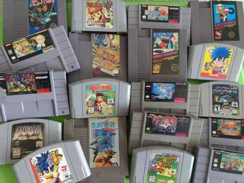 Gran lote de 85 juegos nintendo nes,snes,n64